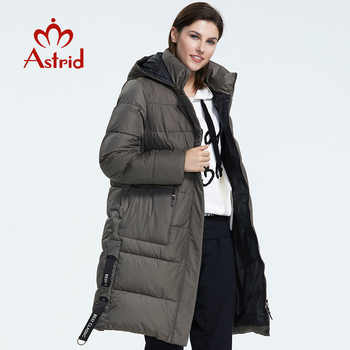 Astrid 2019 Winter new arrival down jacket women outerwear high quality thick cotton black color hood long winter coat AR-7112 - DISCOUNT ITEM  60% OFF All Category