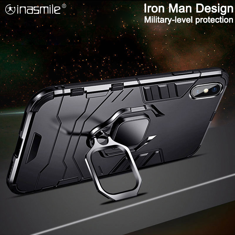 Armor Shockproof Phone Case For Huawei P40 Pro P30 lite P20 Mate 30 20 10 Honor V30 9X 8x Max 6X P Smart Z Stand Holder Cover(China)
