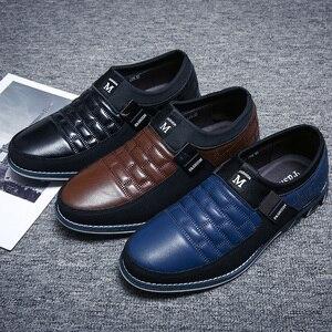 Image 5 - Sonbahar ayakkabı erkekler rahat deri ayakkabı deri yüksek kaliteli rahat ayakkabılar ışık siyah ayakkabı erkekler rahat ayakkabılar