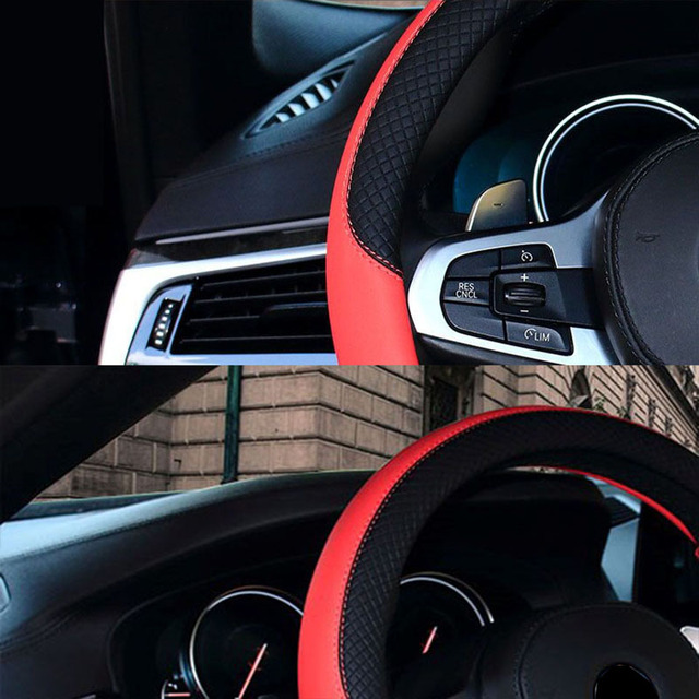 WLMWL Leather Car Steering Wheel Cover For BMW f30 f10 e46 x5 e70 x1 x3 e39 x5 x4 f11 all models Car-Styling
