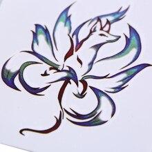 Девять Хвост Лиса Тотем Тату Наклейка Рука Водонепроницаемый Временные Татуировки Сексуальные Тату