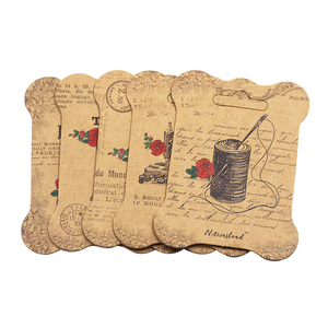Image 4 - 100 個紙糸カード刺繍糸ボビンため収納ホルダークロスステッチ紙ボード