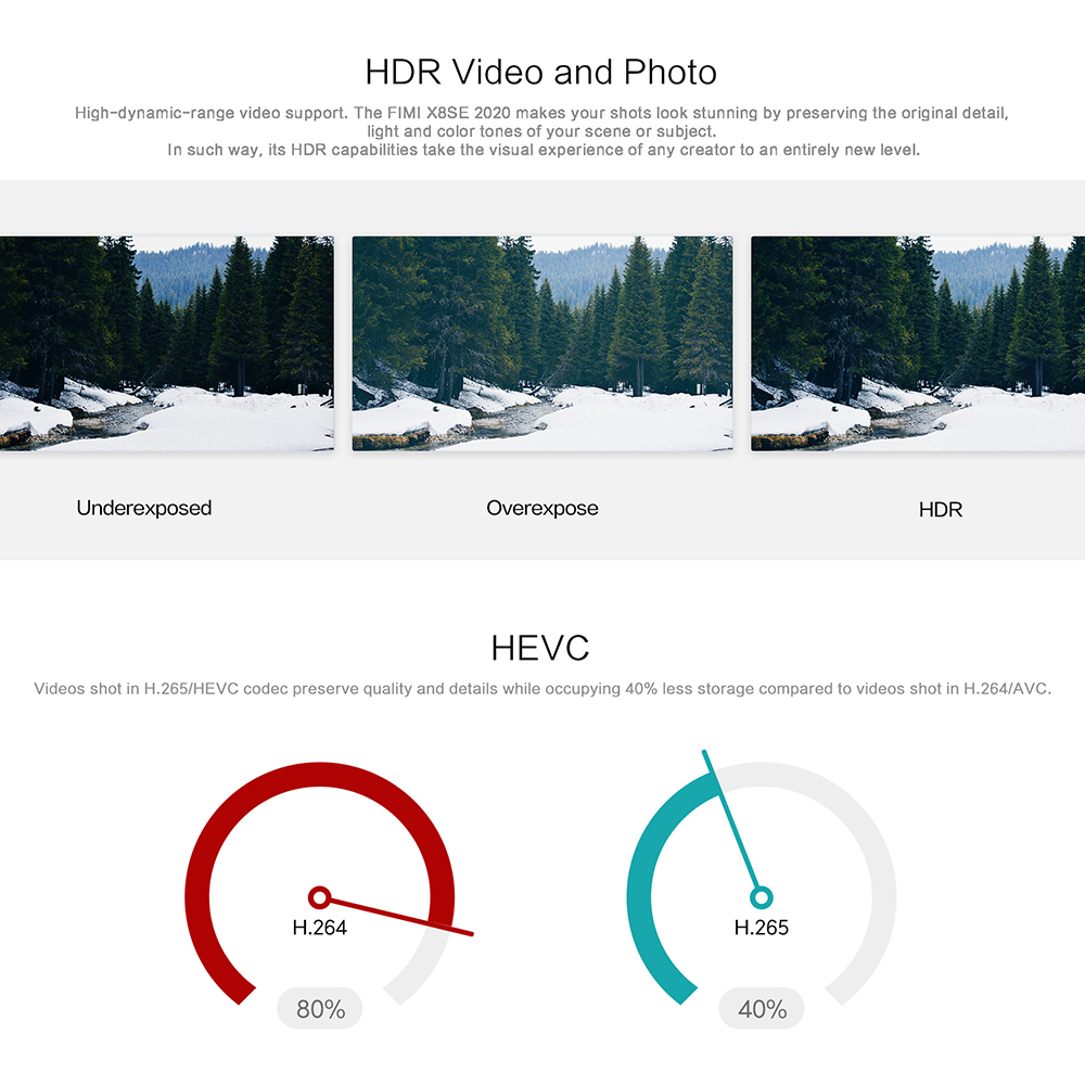 Original FIMI X8 SE 2020 RC Drone 3Axis Gimbal 8K Camera Quadcopter RTF Helicopter HDR GPS Positioning FPV 33min Flight X8 Bag 1
