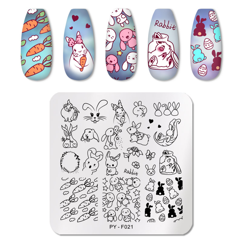PICT YOU 12*6cm Nail Art Templates Stamping Plate Design Flower Animal Glass Temperature Lace Stamp Templates Plates Image 21