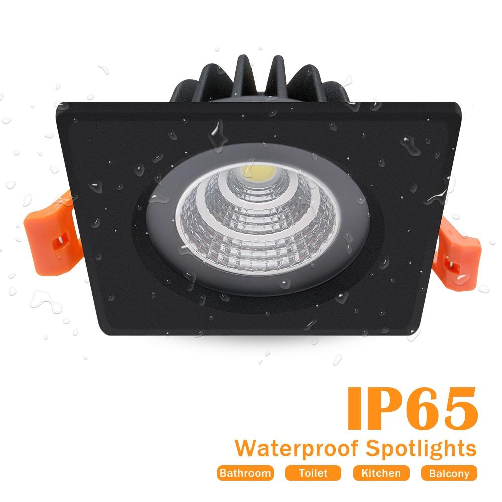 quadrado led downlight cob recesso lampada redonda 01
