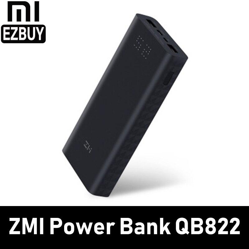 Xiaomi Внешний аккумулятор Z mi запасные аккумуляторы для телефонов 20000 мАч quick charge QC3.0 Сяо батарея 20000 QB822 iPhone зарядное устройство