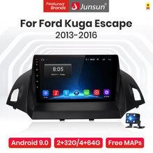 Junsun-راديو السيارة V1 Pro مع نظام تحديد المواقع العالمي (GPS) ، راديو مع مشغل ، Android 10.0 ، AI ، التحكم الصوتي ، للسيارة Ford Kuga Escape 2013-2016