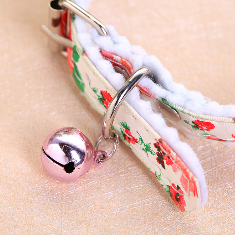 Feng Yuen Pet Supplies Classic French Printed Dog Neck Ring And Bell Pet Supplies