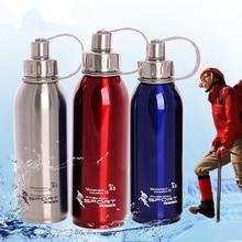 Stainless Steel Water Bottle Hermal Pot Portable for Bicycle Bottles Travel 1000ml 800ml 600ml Metal Water Bottle Gift 50UU102 цена и фото