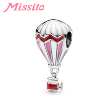 MISSITA Women Hot Air Balloon Charm fit Pandora Bracelets & Necklaces for Jewelry Making Ladies Jewelry Accessories стоимость