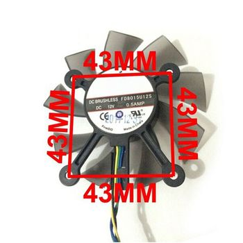 75MM FD8015U12S DC12V 0.5AMP 4PIN Cooler Fan For ASUS GTX 560 GTX550Ti HD7850 Graphics Video Card Cooling Fans R9JA image