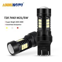 цена на ANMINGPU 2x Signal Lamp Led T20 7443 W21 5W 7440 WY21W W21W 2835 Chips 3156 Led P27W 3157 P27/7W For Cars Brake Reverse Light