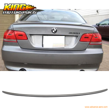 Fit For 2007-2013 BMW E92 2Dr M3 Style #A22 Sparkling Graphite Painted Trunk Spoiler