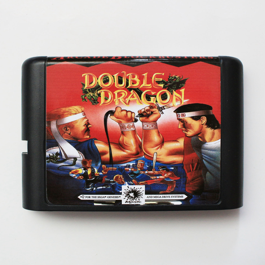 Double Dragon Game Cartridge 16 Bit Game Card For Sega Mega Drive Sega Genesis