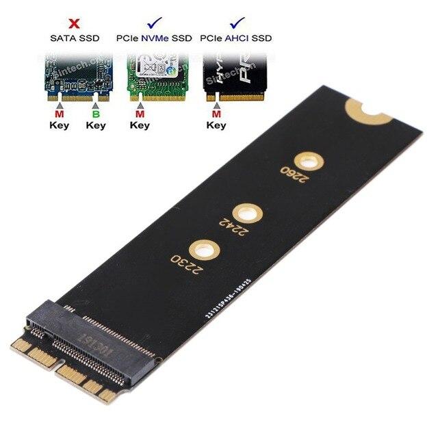 M.2 NVME PCIE SSD M.2 nVME SSD Adapter Card per Aggiornamento 2013 2015 Anno Mac (Non Misura Precoce 2013 MacBook Pro)