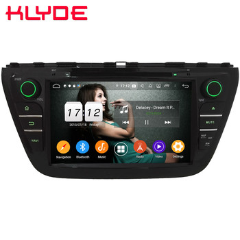 "Klyde 8"" IPS 4G Android 9.0 Octa Core 4GB RAM 64GB ROM DSP BT Car DVD Multimedia Player Stereo For Suzuki S-Cross SX4 2014-2018"