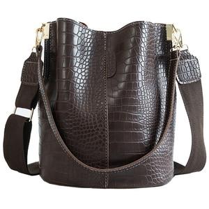 Image 1 - Crocodile PU Leather Handbag For Women Lady Crossbody Over Shoulder Bag Top Brand Luxury Designer Bag feminina totes sac a main
