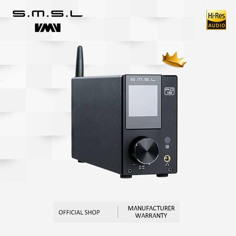 SMSL AD18 stereofoniczny wzmacniacz Audio HI-FI z Bluetooth 4.2 obsługuje apt-x, USB DSP pełny cyfrowy wzmacniacz mocy 2.1 dla głośnika
