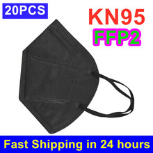 Face-Mask Mascarillas FFP2 Black FILTER Mouth-Caps 20PCS Dustproof KN95 Anti-Pollution-Mouth-Cover