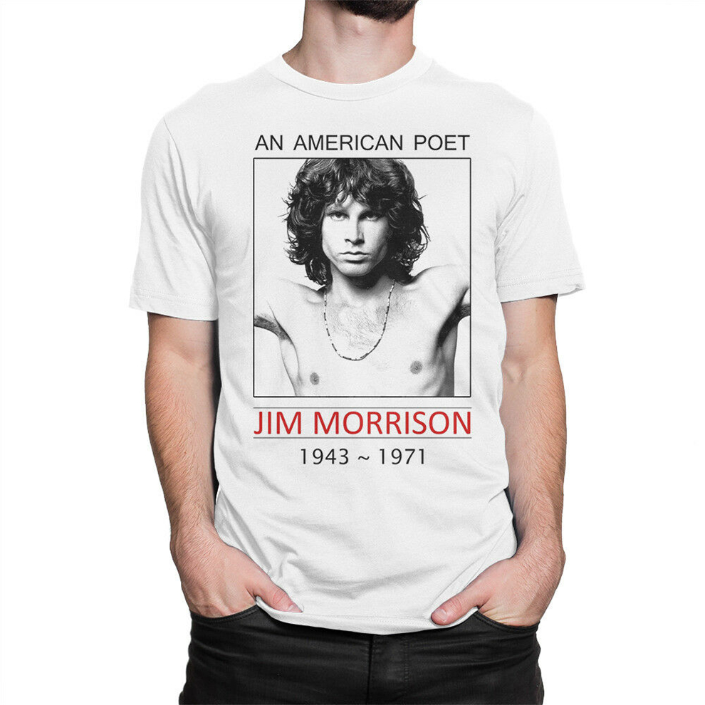 Jim Morrison An American Poet T-Shirt, The Doors Tee, Men'S Women'S All Sizes Graphic Tee Shirt