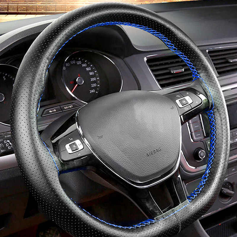 Auto Steering Wheel Cover for Women/Men for Seat Leon Peugeot 308 Citroen C4 Renault Clio Skoda Rapid Interior Kits accessories