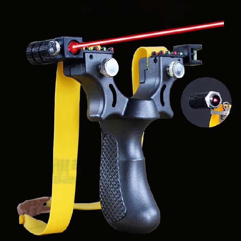 RUOXI Slingshot Precision Laser Slingshot Flat Leather Bow Catapulta de Caza y Pesca al Aire Libre de Alta precisi/ón