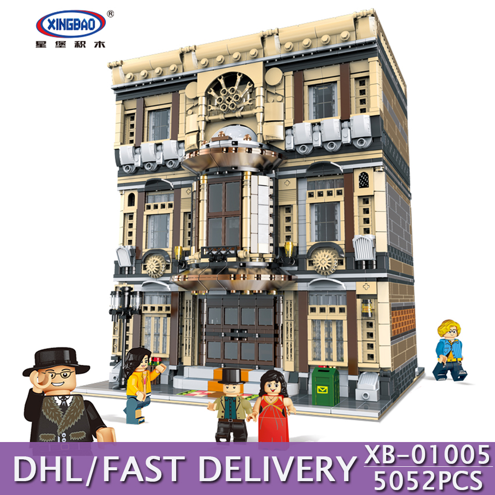 DHL XINGBAO Building Blocks 5052Pcs Genuine City Series The Maritime Museum Building Bricks Educational Kids Toy