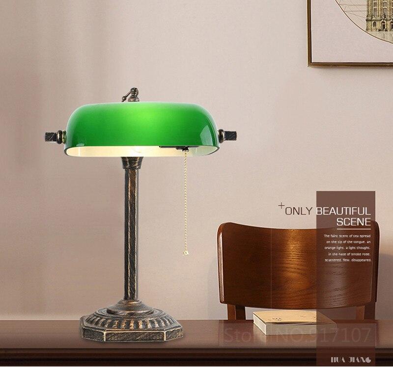 Винтажное китайское цветное стекло, пленка и телевизионная банка, настольная лампа для чтения, для учебы, для гостиной, спальни, офиса, декоративная настольная лампа