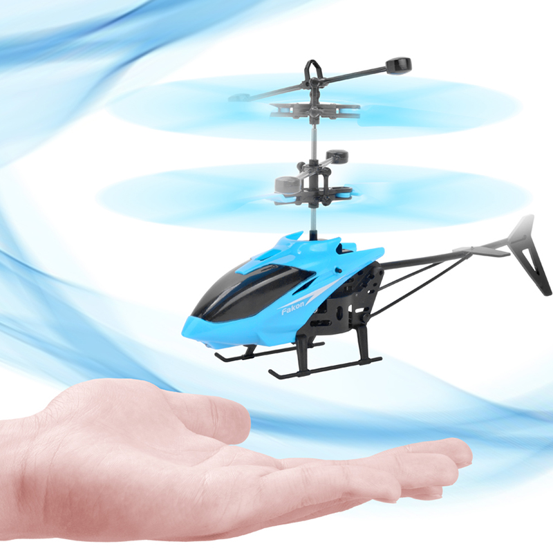 RC Helicopter Mini RC Drone Flying Infraed Induction Helicopter Aircraft Dron Quadcopter Kids Toy Remote Control Outdoor Toys