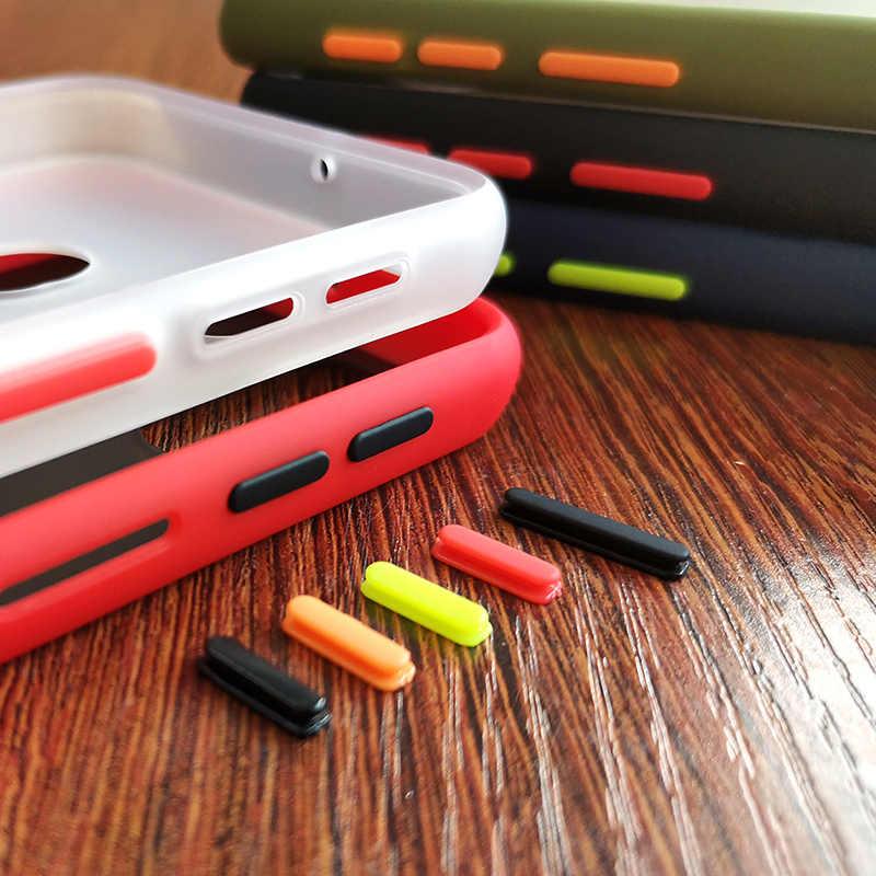 Matowy silikon odporny na wstrząsy etui na telefon z twardymi bokami do Samsung Galaxy Note 10 Pro 9 8 S10 S9 S8 Plus A51 A71 J4 J6 J8 A9 A7 2018 pokrywa