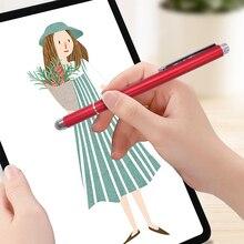 2 w 1 długopis Stylus dotykowy rysunek ekran pojemnościowy Caneta ołówek na Tablet PC inteligentny telefon Android z mikrofibry Touch Head