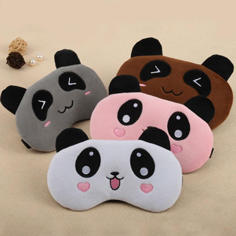 Cute Bear Panda Sleeping Eye Mask Travel Pi…
