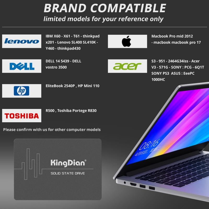 KingDian SSD 1TB 240 gb 120gb HD SSD SATA III 3 Hard Drive 2.5