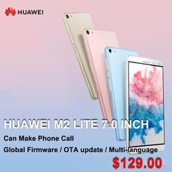 Huawei MediaPad M2 Lite с глобальной прошивкой, 7 дюймов, PLE-703L, четыре ядра, 3G, 32G rom, планшет с функцией звонка, Snapdragon 615, отпечаток пальца, 13,0 МП