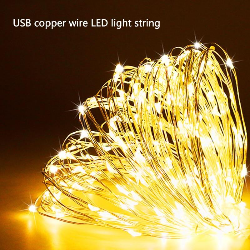 LED Fairy Light String USB Copper Wire Lamp Festival Decoration Light LED Light String Celebration Party Decoration String Light