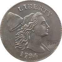 Venta al por mayor, 1794 monedas de medio Penny, copia de 100%, fabricación de copiadoras