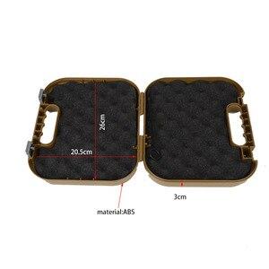 Image 2 - Glock tático abs caso pistola coldre caixa de engrenagem dura arma saco acolchoado forro de espuma para caça tiro acessórios