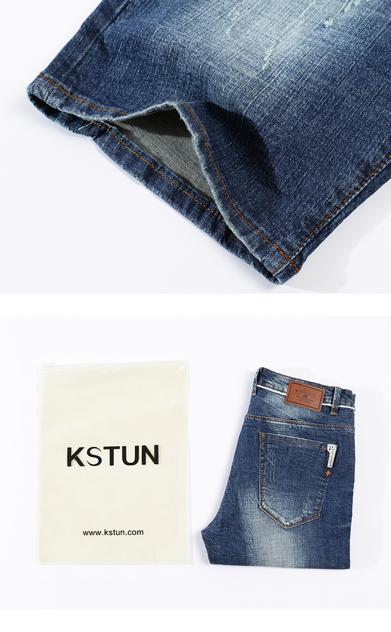 KSTUN 2020 Summer New Men's Denim Shorts Fashion Slim Fit Stretch Cotton Blue Washed Ripped Jeans Man Brand Clothes High Quality 16