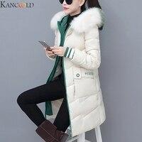 KANCOOLD New Long Parkas Female Womens Winter Jacket Coat Thick Cotton Warm Jacket Womens Outwear Parkas Plus Size Fur Coat