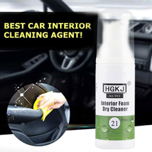50ml Car Auto Interior Leather Care Cleaning Foam Dry Agent Fluid Washing Tool
