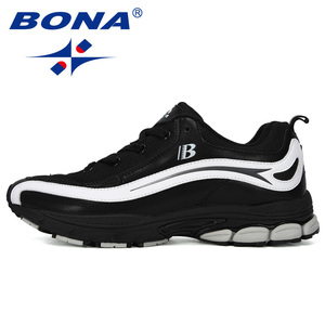 Image 5 - بونا جديد مصمم الاتجاه احذية الجري الرجال رياضية عالية الجودة في الهواء الطلق الدانتيل متابعة أحذية للمشي Zapatillas Hombre مريحة