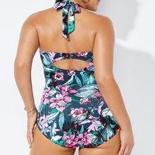 Plaj kumlu plaj yüksek kaliteli Bikini SwimsuitWomen tek parça baskılı Push Up Bikini plaj mayo Monokini mayo mayo #30