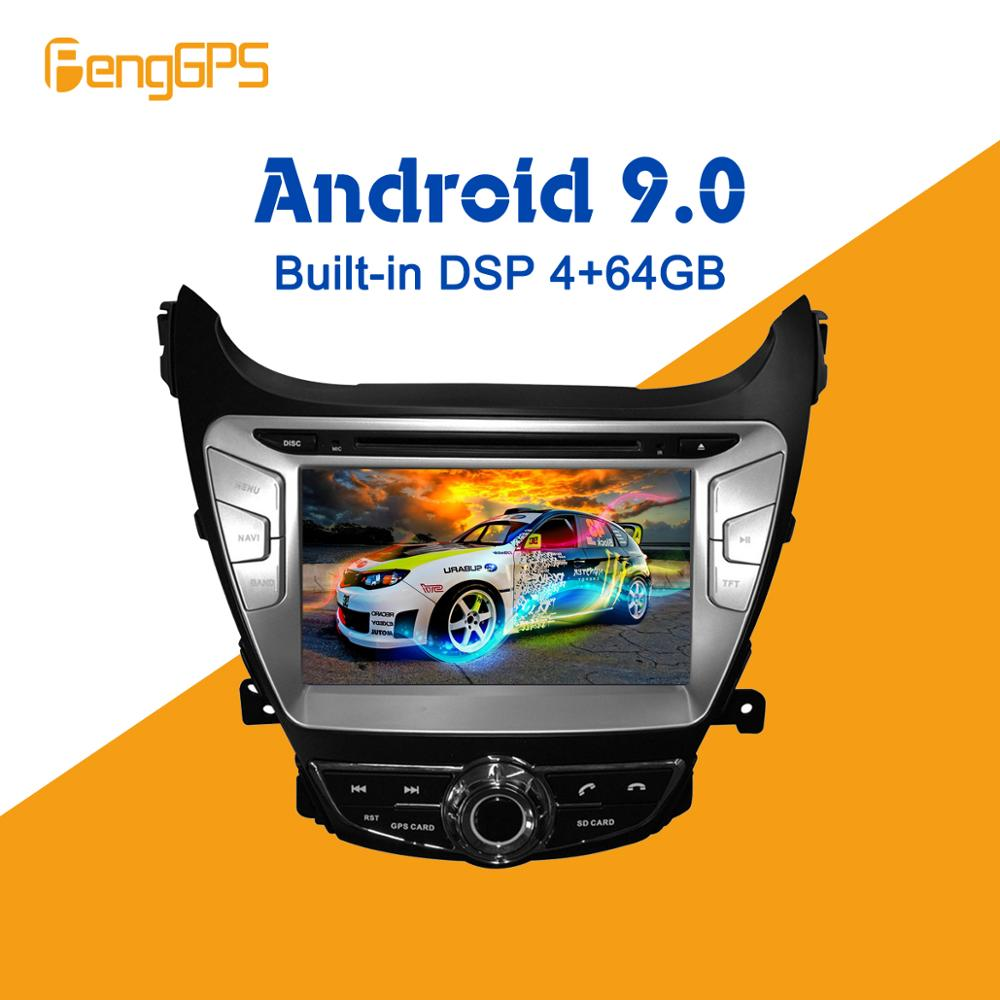 Android 9.0 4 + 64GB px5 Gebaut in DSP Auto DVD Player Multimedia Radio Für Hyundai Elantra/Avante/ i35 2011-<font><b>2013</b></font> GPS Navigation image