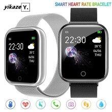 I5 akıllı saat erkekler kadınlar nabız monitörü kan basıncı çocuklar su geçirmez spor Smartwatch saat Android IOS PK IWO P80 D20