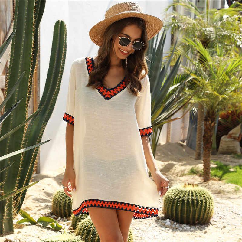 Long Beach Dress Beachwear Bikini Cover Up For Women Coverups Plus Size Sarong Dresses Crochet Strappy Swim Wear White Black Xl Aliexpress