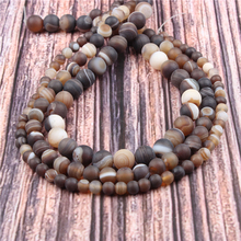 Hot?Sale?Natural?Stone?Coffee Agate15.5?Pick?Size?6/8/10/12mm?fit?Diy?Charms?Beads?Jewelry?Making?Accessories