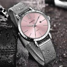Północna kobiet zegarki luksusowe marki zegarek kwarcowy kobiety moda sukienka proste ze stali nierdzewnej wodoodporny Lady Casual zegarki biznesowe
