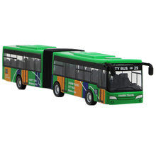 Children'S Diecast Model Vehicle Shuttle Bus Car Toys Small Baby Pull Back Toys Green