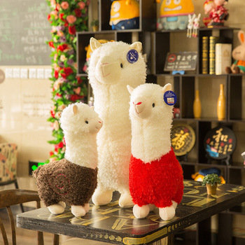Lovely White Alpaca Llama Plush Toys Doll Animal Stuffed Animal Dolls Japanese Soft Plush Alpacasso For Kids Birthday Gifts fancytrader large plush bunny doll lovely soft stuffed cartoon rabbit kids toys gifts pink purple for chilren 100cm