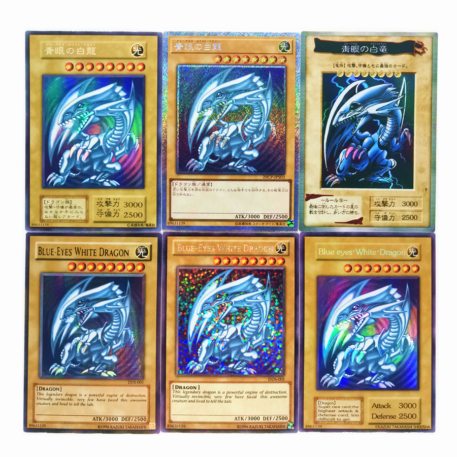 Yu Gi Oh Blue Eyes White Dragon DIY Colorful Toys Hobbies Hobby Collectibles Game Collection Anime Cards